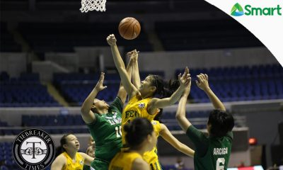 Tiebreaker Times Jumuad completes FEU upset over La Salle, revives Final Four hopes Basketball DLSU FEU News UAAP  UAAP Season 79 Women's Basketball UAAP Season 79 Princess Jumuad Maria Balleser Loraine Ventura Kat Nunez FEU Women's Basketball DLSU Women's Basketball Cholo Villanueva Camille Claro Bert Flores