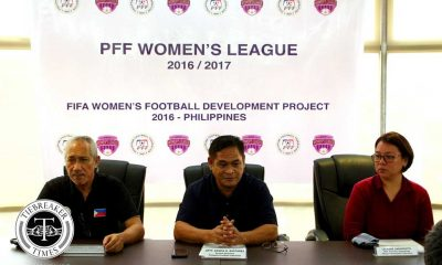 Tiebreaker Times Historic PFF Women's League set to launch ADMU DLSU FEU Football News UP UST  Younghusband Football Academy UST Women's Football UP Women's Football PFF OutKast FC Kaya FC Hiraya FC Green Archers United Fuego Espanya FEU Women's Football DLSUU Women's Football Ateneo Women's Football 2016 PFF Women's League