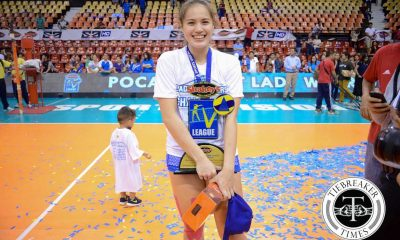 Tiebreaker Times Michele Gumabao: Pocari's heart and soul (and MVP) News PVL Volleyball  Pocari Sweat Lady Warriors Michele Gumabao 2016 SVL Season 2016 SVL Reinforced Conference