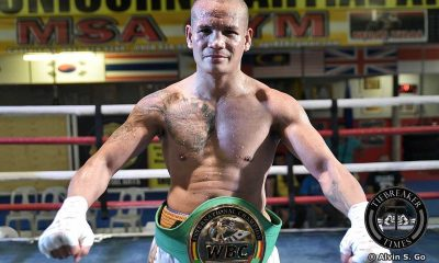 Tiebreaker Times Jaro makes successful return, bags WBC International belt Boxing News  Sonny Boy Jaro Shape-Up Promotions Marjun Pantilgan