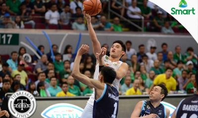 Tiebreaker Times Melecio admits to being overly eager in post-season debut Basketball DLSU News UAAP  UAAP Season 79 Men's Basketball UAAP Season 79 DLSU Men's Basketball Aljun Melecio