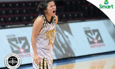 Tiebreaker Times Angeles, Tigresses escape Lady Falcons to gain solo fourth AdU Basketball News UAAP UST  UST Women's Basketball UAAP Season 79 Women's Basketball UAAP Season 79 Shanda Anies Mike Fermin Kaye Pingol Jo Razalo Jhenn Angeles Jamie Alcoy Haydee Ong Candice Magdaluyo Adamson Women's Basketball