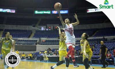 Tiebreaker Times Sto. Domingo-powered UE deals big blow to UST Basketball News UAAP UE UST  UST Women's Basketball UE Women's Basketball UAAP Season 79 Women's Basketball UAAP Season 79 Shanda Anies Ruthlaine Tacula Ruby Portillo Love Sto. Domingo Haydee Ong Aileen Lebornio