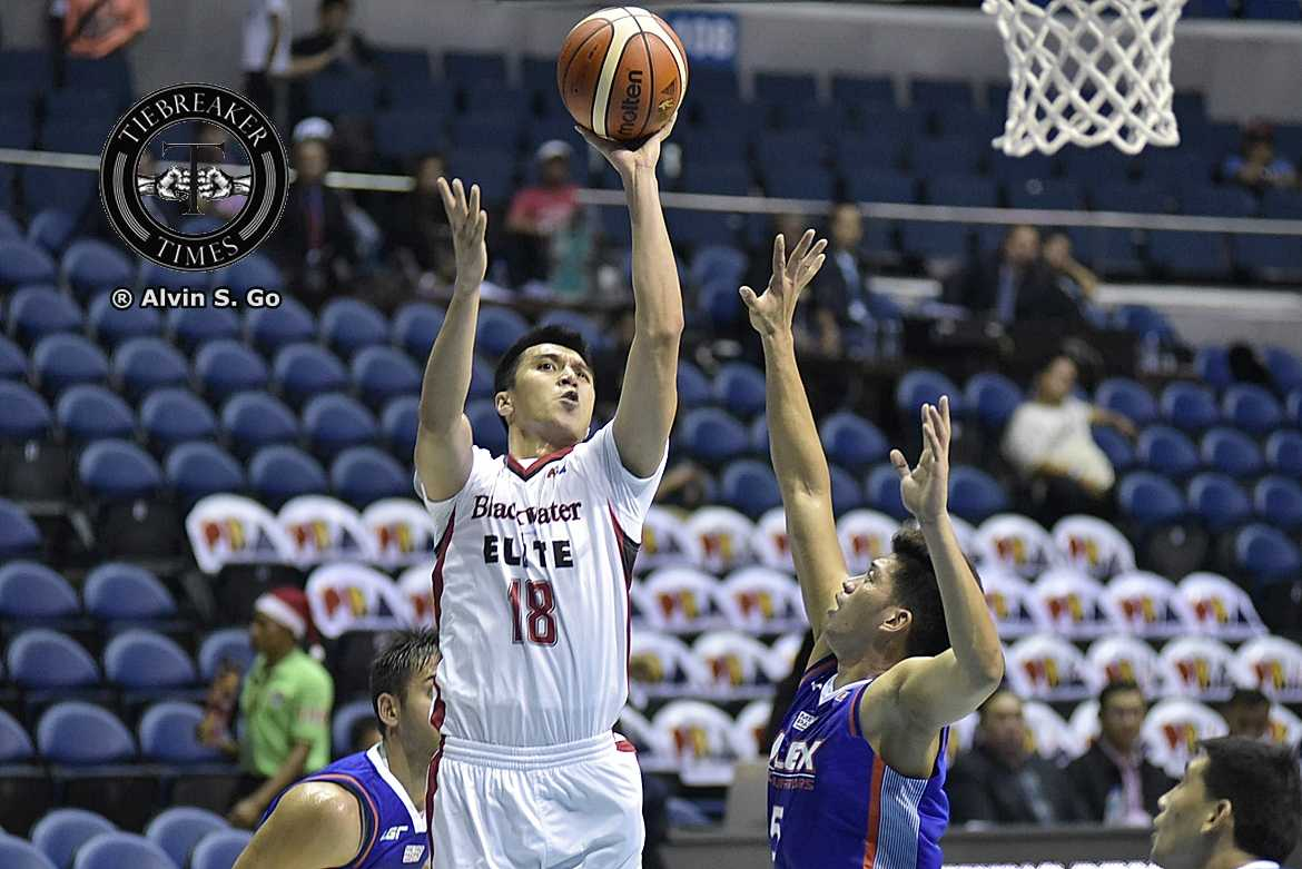 Tiebreaker Times Blackwater arrests two-game skid against undermanned NLEX Basketball News PBA  Yeng Guiao Ronjay Buenafe PBA Season 42 NLEX Road Warriors Mac Baracael Leo Isaac Kyle Pascual Carlo Lastimosa Blackwater Elite Art dela Cruz 2016-17 PBA All Filipino Conference