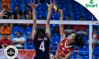 Tiebreaker Times San Beda dispatches Letran for fifth win CSJL NCAA News SBC Volleyball  San Beda Women's Volleyball Rebecca Cuevas Nieza Viray Nemesio Gavino NCAA Season 92 Women's Volleyball NCAA Season 92 Michael Inoferio Letran Women's Volleyball Francesca Racraquin Daryl Racraquin