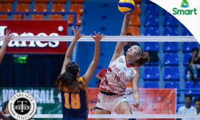 Tiebreaker Times Lady Red Spikers sizzle in bounce back win over Lady Bombers JRU NCAA News SBC Volleyball  Shola Alvarez Satrianni Espiritu San Beda Women's Volleyball Rosalie Pepito Nemesio Gavino NCAA Season 92 Women's Volleyball NCAA Season 92 Mia Tiosejo JRU Women's Volleyball Francesca Racraquin Daryl Racraquin
