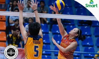 Tiebreaker Times Cruise-control Lady Stags overwhelm Lady Bombers JRU NCAA News SSC-R Volleyball  Vira Guillema San Sebastian Women's Volleyball Rosalie Pepito Roger Gorayeb Nikka Dalisay NCAA Season 92 Women's Volleyball NCAA Season 92 Mia Tiosejo JRU Women's Volleyball Grethcel Soltones Alyssa Eroa