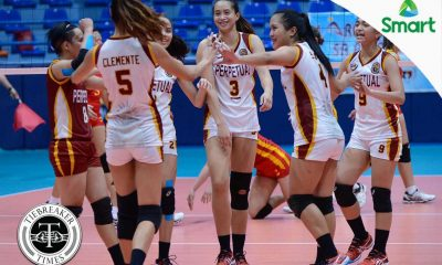 Tiebreaker Times Lady Altas whitewash Lady Cardinals for second win MIT NCAA News UPHSD Volleyball  Sammy Acaylar Perpetual Women's Volleyball Necelle Gual NCAA Season 92 Women's Volleyball NCAA Season 92 Marijo Medalla Mapua Women's Volleyball Lourdes Clemente Leonardo Toyco Dianne Latayan