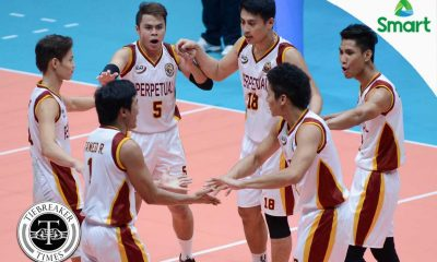 Tiebreaker Times Altas fend off gritty Cardinals for second straight win MIT NCAA News UPHSD Volleyball  Sammy Acaylar Rey Taneo Rey Andaya Relan Taneo Perpetual Men's Volleyball NCAA Season 92 Men's Volleyball NCAA Season 92 Mario Mia Jr. Mapua Men's Volleyball Jack Kalingking Esmail Kasim Allan Sala-an