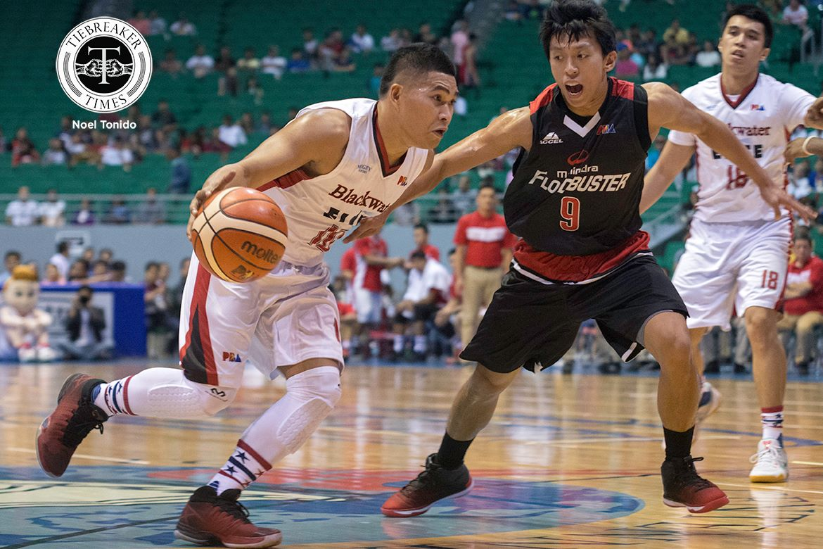 Philippine Sports News - Tiebreaker Times Elorde was the 'little engine' that sparked Mahindra's victory Basketball News PBA  PBA Season 42 Nico Elorde Mahindra Floodbuster 2016-17 PBA All Filipino Conference
