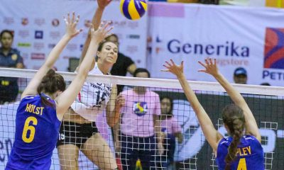 Tiebreaker Times Foton vanquishes pesky RC Cola-Army, books Finals seat News PSL Volleyball  Royse Tubino Rhea Dimaculangan RC Cola Army Lady Troopers Moro Branislav Lindsay Stalzer Kungfu Reyes Kierra Holst Jovelyn Gonzaga Jaja Santiago Foton Tornadoes Bia General Ariel Usher 2016 PSL Season 2016 PSL Grand Prix