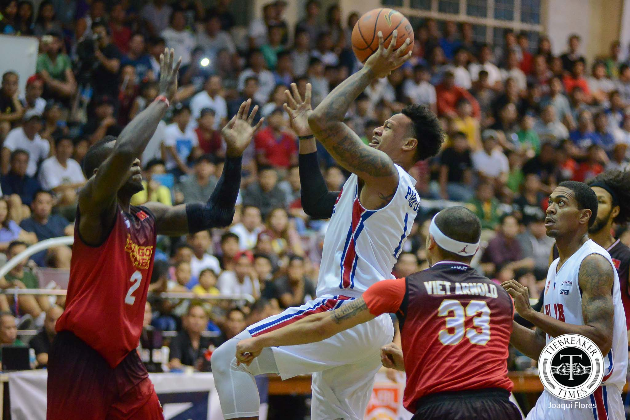 Philippine Sports News - Tiebreaker Times Ray Parks, Jr. 'privileged' to have PBA greats around him in Alab ABL Alab Pilipinas Basketball News  Bobby Ray Parks Jr. 2017-18 ABL Season