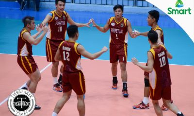 Tiebreaker Times Altas pummel Chiefs to take semis incentive AU NCAA News UPHSD Volleyball  Sherwin Meneses Sammy Acaylar Rey Taneo Relan Taneo Perpetual Men's Volleyball NCAA Season 92 Men's Volleyball NCAA Season 92 Jack Kalingking Esmail Kasim Arellano Men's Volleyball