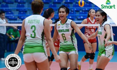 Tiebreaker Times Lady Blazers pick up morale-boosting win over Lady Red Spikers CSB NCAA News SBC Volleyball  San Beda Women's Volleyball Ranya Musa Nieza Viray NCAA Season 92 Women's Volleyball NCAA Season 92 Michael Carino Melanie Torres Jeanette Panaga Francesca Racraquin Benilde Women's Volleyball