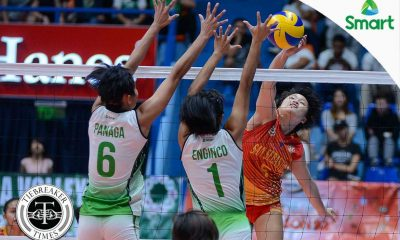 Tiebreaker Times Another year, another ladder: Soltones, Lady Stags back in the Finals CSB NCAA News SSC-R Volleyball  Vira Guillema San Sebastian Women's Volleyball Roger Gorayeb NCAA Season 92 Women's Volleyball NCAA Season 92 Michael Carino Kath Villegas Joyce Sta. Rita Jeanette Panaga Jan Arianne Daguil Grethcel Soltones Benilde Women's Volleyball Alyssa Eroa