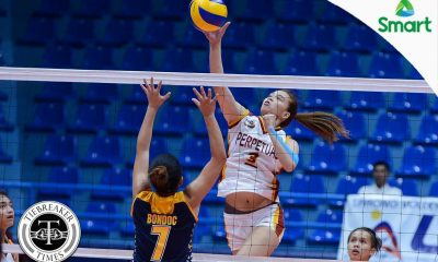 Tiebreaker Times Bravo notches career-high as Lady Altas trounce Lady Bombers JRU NCAA News UPHSD Volleyball  Shola Alvarez Sammy Acaylar Rosalie Pepito Perpetual Women's Volleyball Necelle Gual NCAA Season 92 Women's Volleyball NCAA Season 92 Mia Tiosejo Lourdes Clemente JRU Women's Volleyball Coleen Bravo