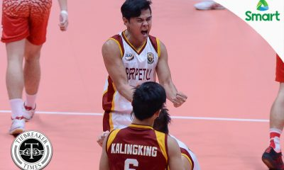 Tiebreaker Times Altas complete epic comeback against Red Spikers to return to Finals NCAA News SBC UPHSD Volleyball  San Beda Men's Volleyball Sammy Acaylar Rey Taneo Relan Taneo Perpetual Men's Volleyball NCAA Season 92 Men's Volleyball NCAA Season 92 Mark Enciso Manuel Doliente Jose Roque Jack Kalingking Esmail Kasim Adrian Viray