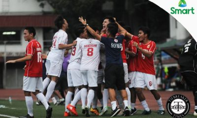 Tiebreaker Times History Made: San Beda cops 22nd title in style AU CSB LPU NCAA News SBC  San Beda Seniors Football Ralph Datoy Nieboy Pedimonte NCAA Season 92 Seniors Football NCAA Season 92 Lyceum Seniors Football John Vicente Connor Tacagni Charles Gamutan Benilde Seniors Football Arellano Seniors Football