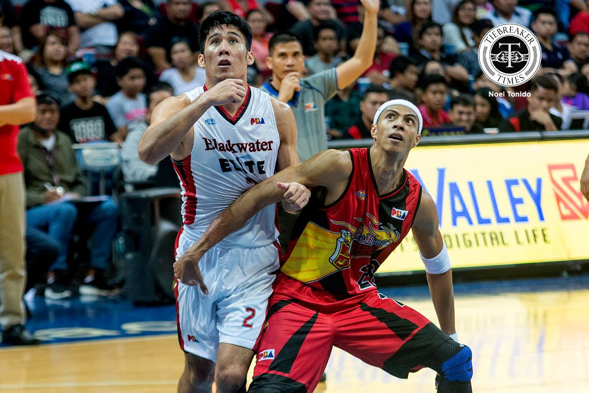 Tiebreaker Times Mac Belo hopes there's nothing to worry about after DNP status Basketball News PBA  PBA Season 43 Mac Belo Leo Isaac Blackwater Elite 2017-18 PBA Philippine Cup