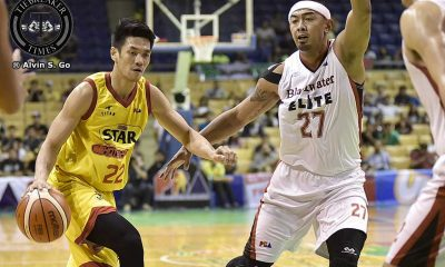 Tiebreaker Times Star sends Blackwater to brink of elimination Basketball News PBA  Star Hotshots Roi Sumang PBA Season 42 Paul Lee Leo Isaac Justin Melton John Pinto Chito Victolero Blackwater Elite Art dela Cruz Allein Maliksi 2016-17 PBA All Filipino Conference