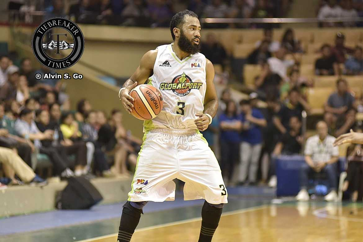 Philippine Sports News - Tiebreaker Times Stanley Pringle lauds Globalport's aggressiveness in upset of TNT Basketball News PBA  Stanley Pringle PBA Season 42 Globalport Batang Pier 2017 PBA Governors Cup