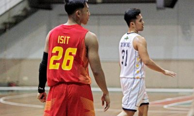 Tiebreaker Times For the first time since the brawl, Isit and Tayongtong meet on the hard court Basketball EAC MIT NCAA News PBA D-League  Wangs Basketball Couriers Province of Batangas (PBA D-League) John Tayongtong CJ Isit 2017 PBA D-League Season 2017 PBA D-League Aspirants Cup