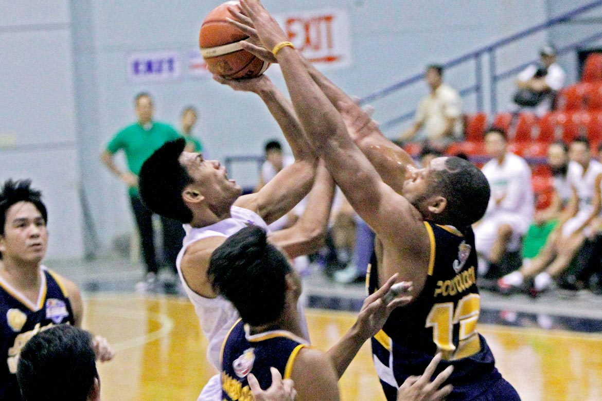 Tiebreaker Times Dionisio double-double powers Victoria Sports-MLQU to breakthrough win Basketball JRU News PBA D-League  Victoria Sports-MLQU Stallions Vergel Meneses Teytey Teodoro Robbie Herndon Paolo Pontejos JRU Seniors Basketball Jinino Manansala Jhaps Bautista Cris Bitoon Aris Dionisio 2017 PBA D-League Season 2017 PBA D-League Aspirants Cup