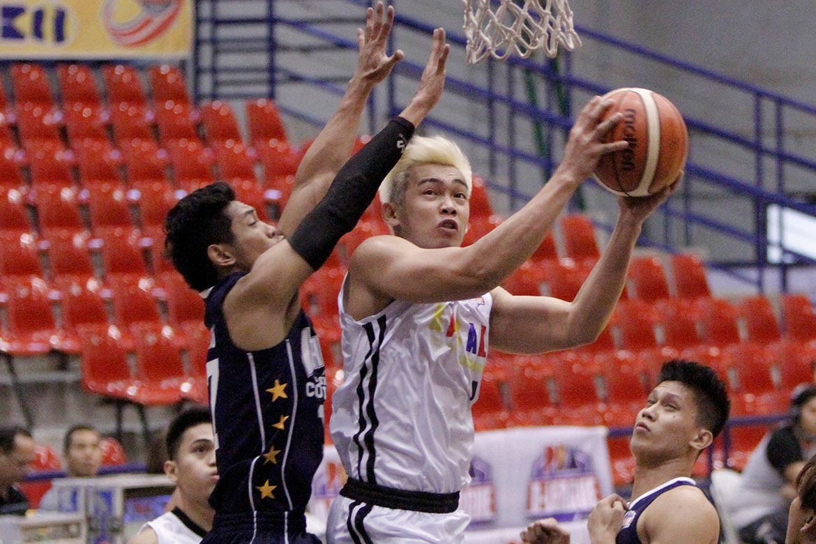 Tiebreaker Times Racal keeps Wangs at bay to keep hold of top spot Basketball News PBA D-League  Sidney Onwubere Rey Publico Racal Tile Masters Pablo Lucas Marlon Gomez Kent Salado Jerry Codinera Jackson Corpuz 2017 PBA D-League Season 2017 PBA D-League Aspirants Cup