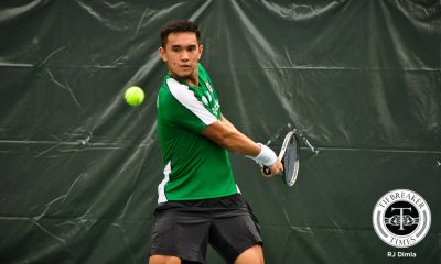 Tiebreaker Times Green Tennisters hits bounce-back win over Fighting Maroons DLSU News Tennis UAAP UP  UP Men's Tennis UAAP Season 79 Men's Tennis UAAP Season 79 Qoqo Allian Kyle Parpan Joshua Cano Jonah Cano DLSU Men's Tennis Betto Orendain
