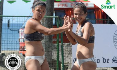 Tiebreaker Times San Beda, San Sebastian keep perfect slates intact AU Beach Volleyball CSB CSJL EAC JRU LPU MIT NCAA News SBC SSC-R UPHSD  San Sebastian Women's Volleyball San Beda Women's Volleyball Perpetual Women's Volleyball Nieza Viray NCAA Season 92 Women's Beach Volleyball NCAA Season 92 Mapua Women's Volleyball Lyceum Women's Volleyball Letran Women's Volleyball JRU Women's Volleyball Jeziela Viray Grethcel Soltones Benilde Women's Volleyball Arellano Women's Volleyball Alyssa Eroa