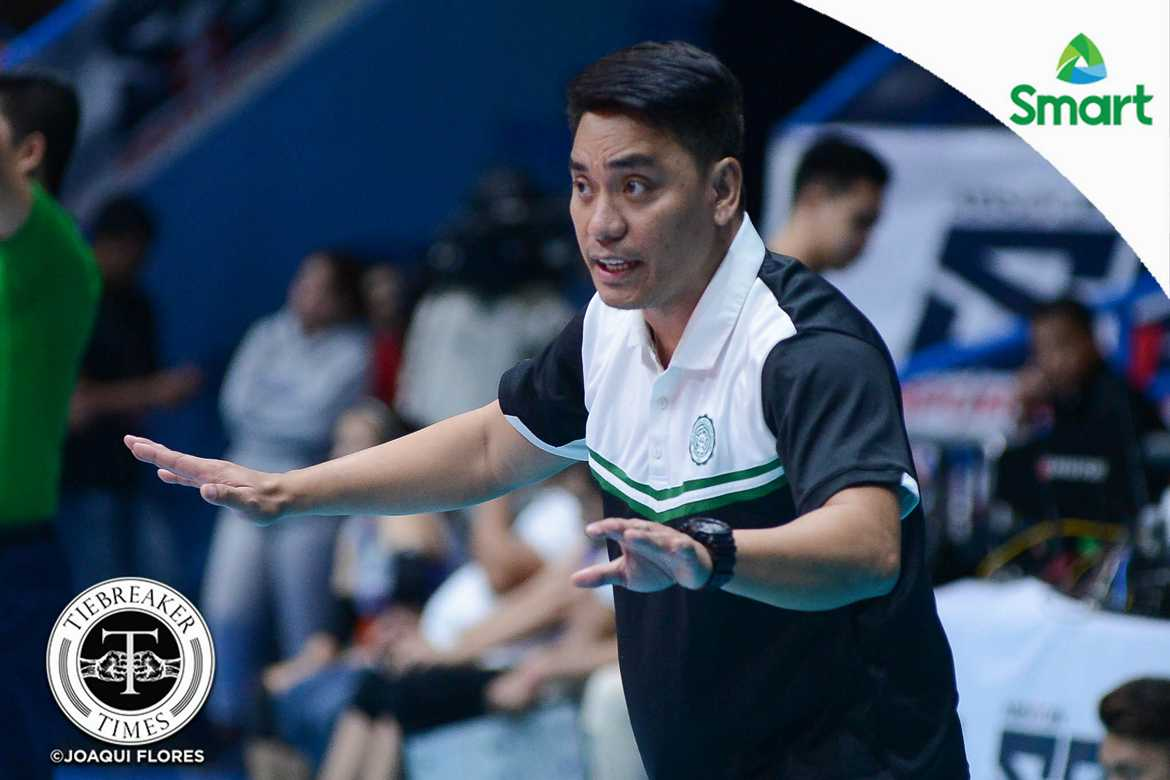Tiebreaker Times Former Benilde head coach Macky Cariño returns to Perpetual CSB NCAA News UPHSD Volleyball  Saint Benilde Women's Volleyball Perpetual Women's Volleyball NCAA Season 93 Women's Volleyball NCAA Season 93 Michael Carino Arnold Laniog