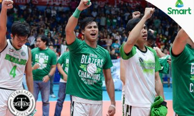 Tiebreaker Times Finally: De Guzman can now be called MVP, champion CSB NCAA News Volleyball  NCAA Season 92 Men's Volleyball NCAA Season 92 John Vic De Guzman Benilde Men's Volleyball