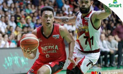 Tiebreaker Times Ginebra withstands San Miguel in OT to tie series in Lucena Basketball News PBA  Tim Cone Scottie Thompson San Miguel Beermen Ronald Tubid PBA Season 42 Marcio Lassiter Leo Austria Kevin Ferrer Joe Devance Japeth Aguilar Chris Ross Barangay Ginebra San Miguel Arwind Santos 2016-17 PBA All Filipino Conference