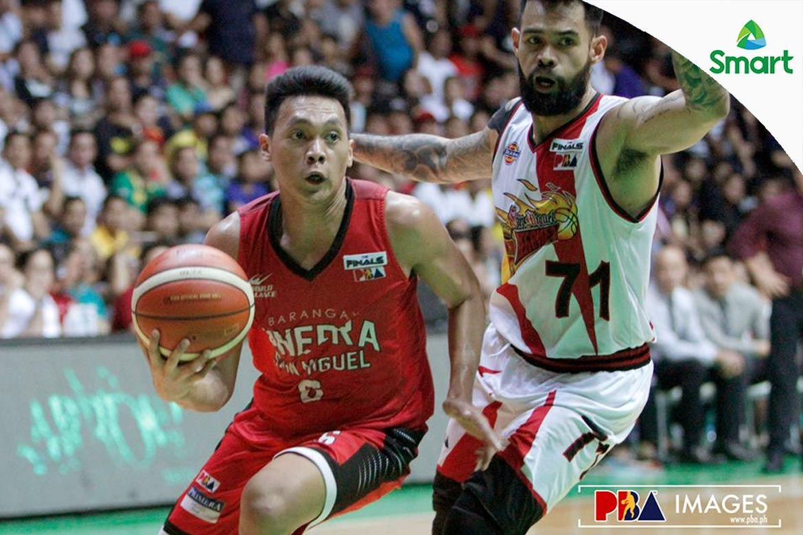 6f5442b1508b Tiebreaker Times Ginebra withstands San Miguel in OT to tie series in  Lucena Basketball News PBA