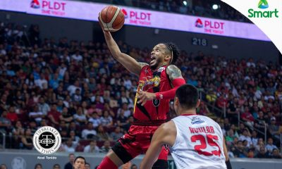 Tiebreaker Times San Miguel thrashes Ginebra, grabs 1-0 Finals lead Basketball News PBA  Tim Cone San Miguel Beermen PBA Season 42 Mark Caguioa Leo Austria June Mar Fajardo Jervy Cruz Gabby Espinas Chris Ross Chris Ellis Barangay Ginebra San Miguel 2016-17 PBA All Filipino Conference