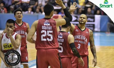 Tiebreaker Times Ginebra evens series against foul-riddled Star Basketball News PBA  Tim Cone Star Hotshots Rafi Reavis PBA Season 42 Jio Jalalon Jervy Cruz Japeth Aguilar Chris Ellis Chito Victolero Barangay Ginebra San Miguel Allein Maliksi 2016-17 PBA All Filipino Conference
