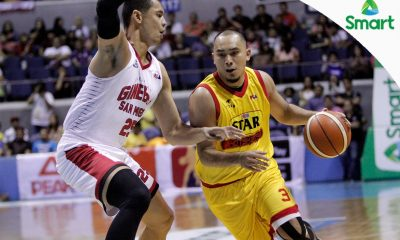 Tiebreaker Times Star wins seventh straight to go up 1-0 against Ginebra Basketball News PBA  Tim Cone Star Hotshots PBA Season 42 Paul Lee Mark Barroca Jio Jalalon Jervy Cruz Chris Ellis Chito Victolero Barangay Ginebra San Miguel 2016-17 PBA All Filipino Conference