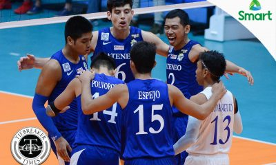 Tiebreaker Times Ateneo picks up sixth straight after sweep of UP ADMU News UAAP UP Volleyball  UP Men's Volleyball UAAP Season 79 Men's Volleyball UAAP Season 79 Tony Koyfman Rod Palmero Oliver Almadro Mark Millete Marck Espejo Manuel Sumanguid Ish Polvorosa Ateneo Men's Volleyball Alfred Valbuena