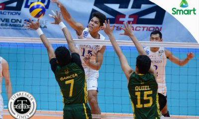 Tiebreaker Times Blue Eagles clobber Tamaraws for third straight win ADMU FEU News UAAP Volleyball  UAAP Season 79 Men's Volleyball UAAP Season 79 Rey Diaz Oliver Almadro Marck Espejo Manuel Sumanguid Karl Baysa Jude Garcia Ish Polvorosa Greg Dolor FEU Men's Volleyball Ateneo Men's Volleyball