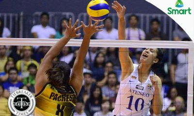 Tiebreaker Times Kat Tolentino impresses in long-awaited debut ADMU News UAAP Volleyball  UAAP Season 79 Women's Volleyball UAAP Season 79 Kat Tolentino Ateneo Women's Volleyball