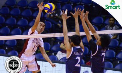Tiebreaker Times First Day High: Fighting Maroons swipe opening day classic from Soaring Falcons AdU News UAAP UP Volleyball  Wendel Miguel UP Men's Volleyball UAAP Season 79 Men's Volleyball UAAP Season 79 Rod Palmero Mike Sudaria Miguel Nasol Jerome Sarmiento Jerahmeel Baldelovar Domingo Custodio Alfred Valbuena Adamson Men's Volleyball