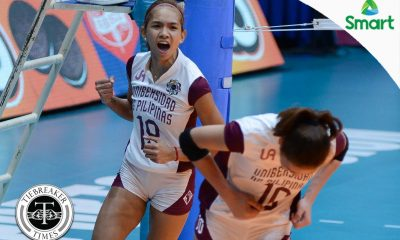 Tiebreaker Times Lady Maroons claim historic win over Lady Spikers DLSU News UAAP UP Volleyball  UP Women's Volleyball UAAP Season 79 Women's Volleyball UAAP Season 79 Ramil De Jesus Pia Gaiser Nicole Tiamzon Majoy Baron Kim Dy Jerry Yee DLSU Women's Volleyball Diana Carlos Arielle Estranero
