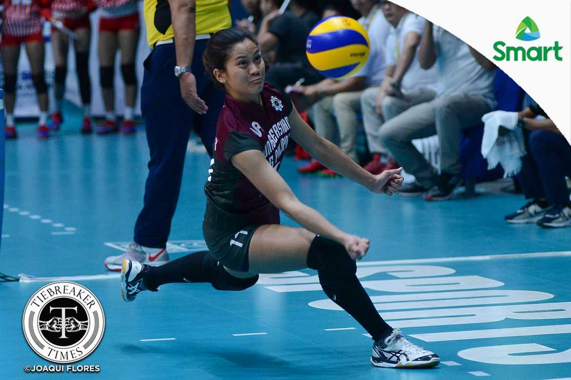 Tiebreaker Times Lady Maroons' better execution key to getting back on track, says Estrañero News UAAP UP Volleyball  UP Women's Volleyball UAAP Season 79 Women's Volleyball UAAP Season 79 Arielle Estranero