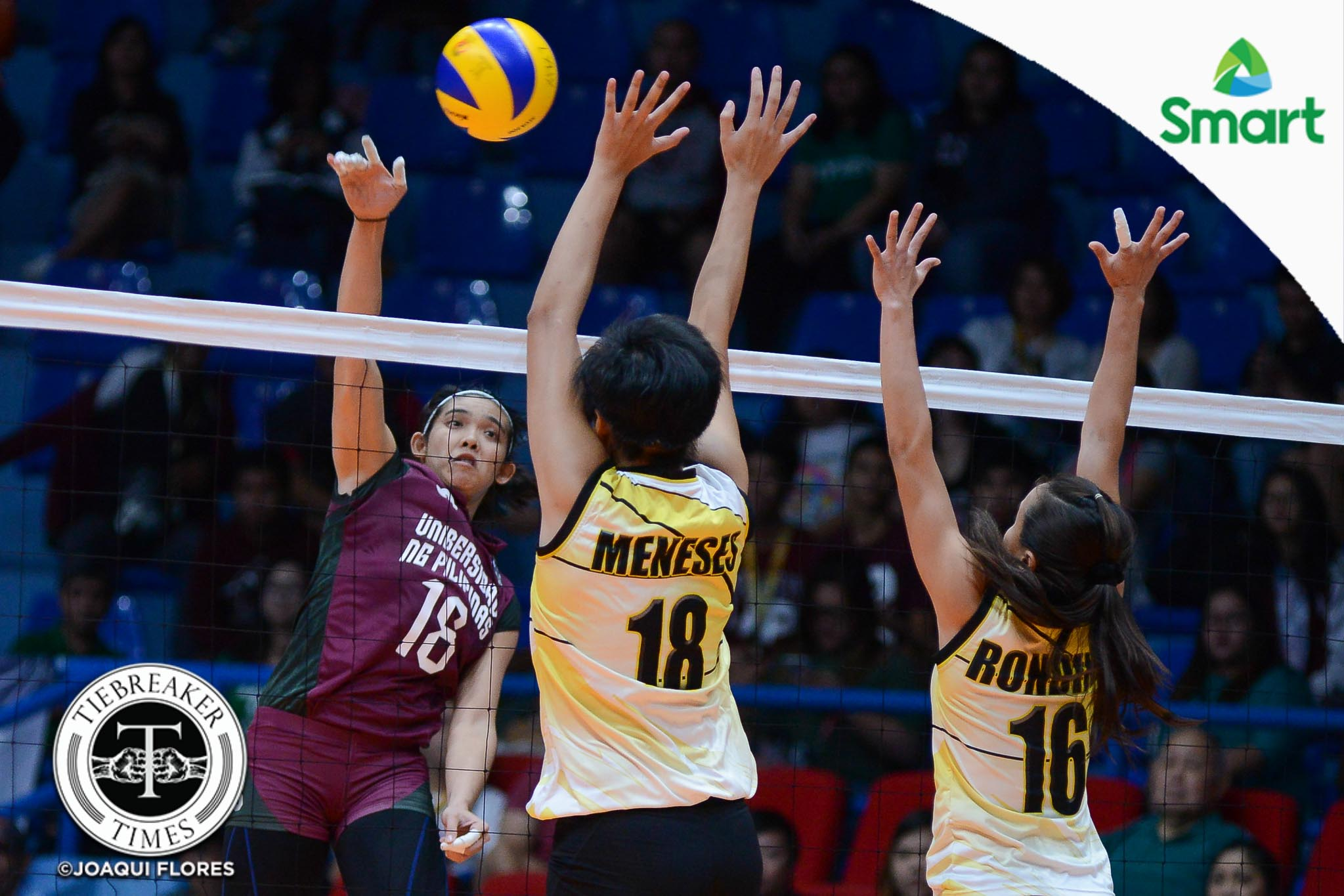 Tiebreaker Times Lady Maroons stay undefeated, outmuscle Golden Tigresses News UAAP UP UST Volleyball  UST Women's Volleyball UP Women's Volleyball UAAP Season 79 Women's Basketball UAAP Season 79 Pia Gaiser Kungfu Reyes Jerry Yee Isa Molde EJ Laure Diana Carlos Cherry Rondina Arielle Estranero