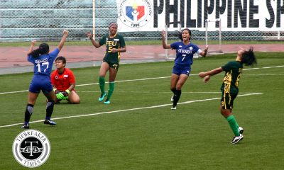 Tiebreaker Times Rodriguez leads Ateneo in come-from-behind victory against 10-woman FEU ADMU FEU Football News UAAP  UAAP Season 79 Women's Football UAAP Season 79 Pam Diaz Nina Catedrilla Marriane Caparros Let Dimzon Kimberly Parina Kimberly Chavez Jovelle Sudaria John Paul Merida FEU Women's Football Camille Rodriguez Bia Requerme Ateneo Women's Football
