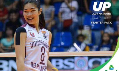 Tiebreaker Times UP Lady Maroons: UAAP LXXIX Starter Pack News UAAP UP Volleyball  UP Women's Volleyball UAAP Season 78 Women's Volleyball UAAP Season 78 Kathy Bersola Jerry Yee Arielle Estranero
