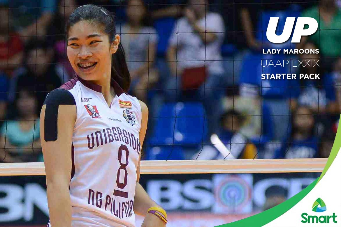 Philippine Sports News - Tiebreaker Times UP Lady Maroons: UAAP LXXIX Starter Pack News UAAP UP Volleyball  UP Women's Volleyball UAAP Season 78 Women's Volleyball UAAP Season 78 Kathy Bersola Jerry Yee Arielle Estranero
