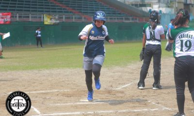 Tiebreaker Times Lady Bulldogs bombard Lady Batters pitching to take first win DLSU News NU Softball UAAP  UAAP Season 79 Softball UAAP Season 79 NU Softball Mia Macapagal Jamica Arribas Dyan Arago DLSU Softball Colleen Alilin Charles Tulalian Alex Estipular