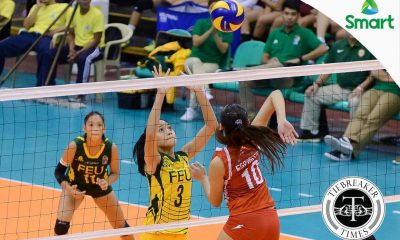 Tiebreaker Times Lady Tams' Villareal has to find new jersey number FEU News UAAP Volleyball  UAAP Season 79 Women's Volleyball UAAP Season 79 Jeanette Villareal FEU Women's Volleyball