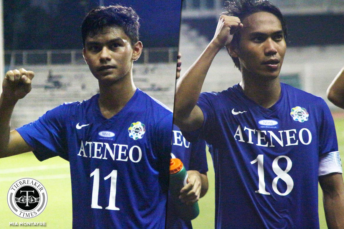 Philippine Sports News - Tiebreaker Times Young and Dangerous: Blue Eagles hit the ground running ADMU Football News UAAP  UAAP Season 79 UAAP Seaon 79 Men's Football Jarvey Gayoso Carlo Liay Ateneo Men's Football